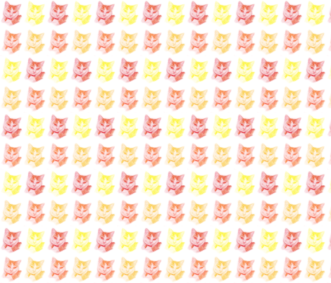 Gizmo the Cat - Warm Mix fabric by dinky's on Spoonflower - custom fabric