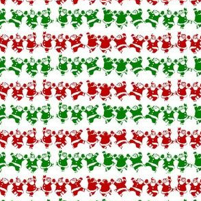 Tiny Dancing Santa Stripe! Christmas
