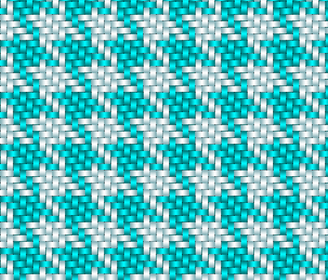 Big Honking Turquoise Houndstooth fabric by chantal_pare on Spoonflower - custom fabric