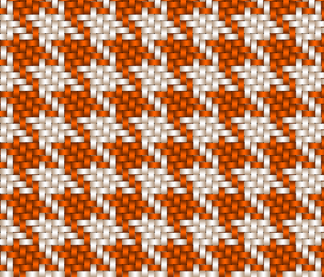 Big Honking Orange Houndstooth fabric by chantal_pare on Spoonflower - custom fabric