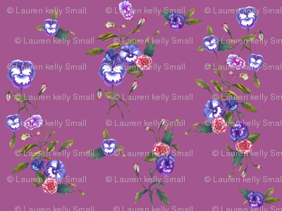 Pansies & Peonies in Royal Purple