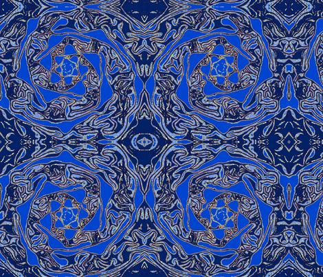 Geode Crystal Spiral Galaxy - (blue) fabric by walkwithmagistudio on Spoonflower - custom fabric