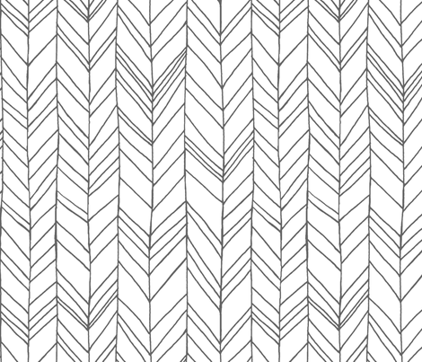 Featherland White/Gray LARGE fabric by leanne on Spoonflower - custom fabric
