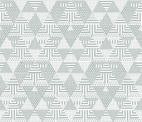Shaped triangles (gray) fabric by les_motifs_de_sarah on Spoonflower - custom fabric
