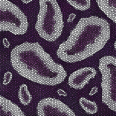 Mosaic of Amethyst Geodes fabric by jabiroo on Spoonflower - custom fabric