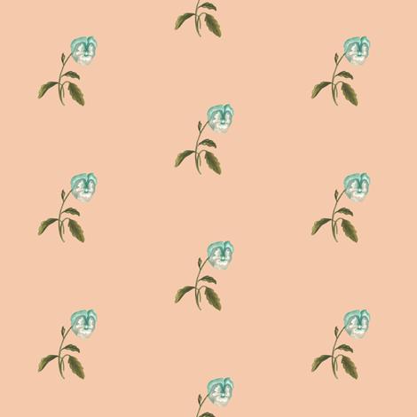 Pansy Single on Peach fabric by thistleandfox on Spoonflower - custom fabric