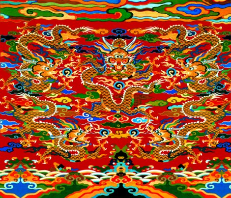 Rspoonflower_contrast_5_orange_dragons_red_bg_shop_preview