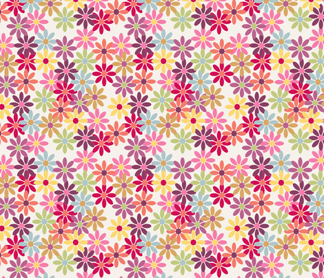 lady_margueritte_fond_ecru_M fabric by nadja_petremand on Spoonflower - custom fabric