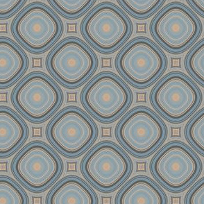 Blue and Beige Geometric © Gingezel™
