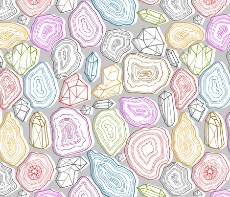 pastel geodes  fabric by kristinnohe on Spoonflower - custom fabric