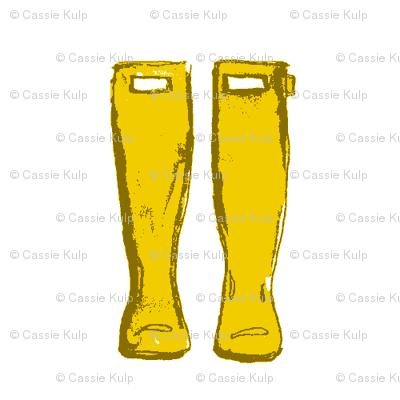 Rain Boots- Yellow