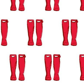 Rain Boots- Red