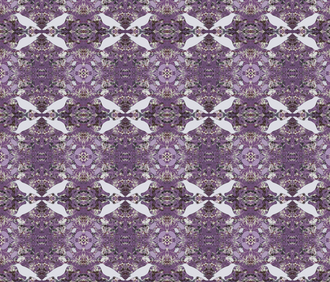 White Hippie Ravens fabric by peaceofpi on Spoonflower - custom fabric