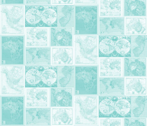 Insta-Quilt Aqua fabric by aftermyart on Spoonflower - custom fabric