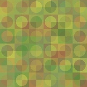 overlapping copper circles