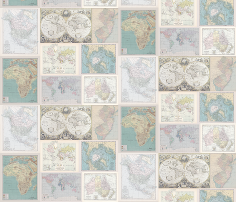 Soft Vintage Instant Quilt fabric by aftermyart on Spoonflower - custom fabric