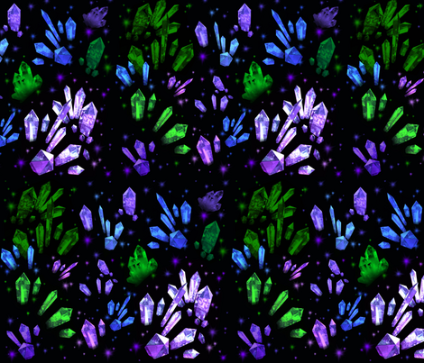Crystal_Cavern fabric by sugarpinedesign on Spoonflower - custom fabric
