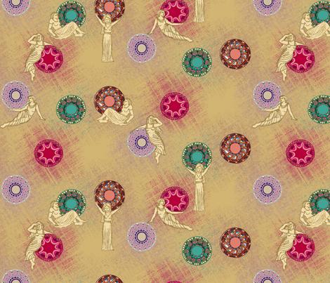 Spirit of Emerald, Ruby, Topaz and Amethyst Grande fabric by bloomingwyldeiris on Spoonflower - custom fabric