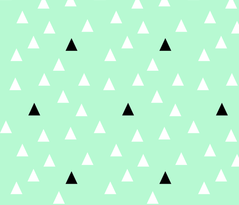 Mint Triangles fabric by charliejane on Spoonflower - custom fabric