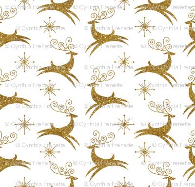 Glitter Reindeer- Jingle Bells Gold