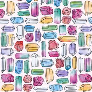 Watercolor Gemstones (large)