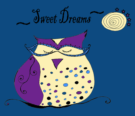 Sweet Dreams Owl fabric by therustichome on Spoonflower - custom fabric