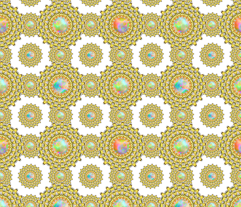 Crested Fire Opal fabric by joanmclemore on Spoonflower - custom fabric