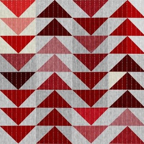 Tribal Quilt (in Crimson)