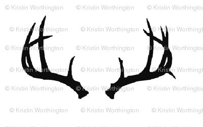Deer Antlers in Black