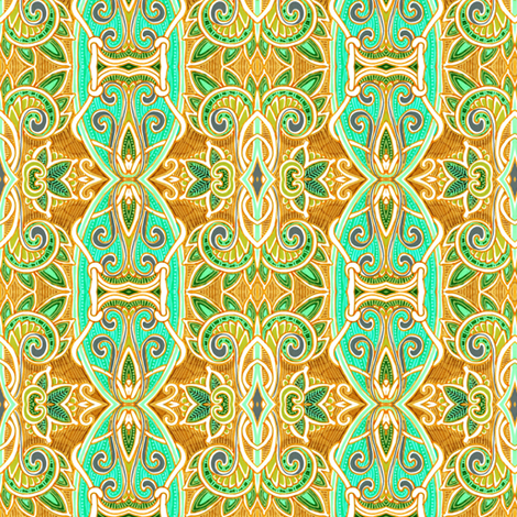 Sign of the Ram Horn fabric by edsel2084 on Spoonflower - custom fabric