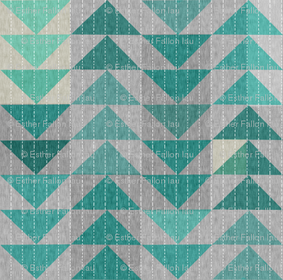 Tribal quilt (in turquoise)