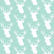 Stag Deer head pattern on mint