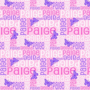 Personalised Name Design - Butterfly Pink and Purple
