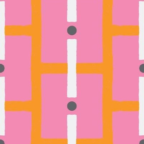 squares and dots-pink/orange