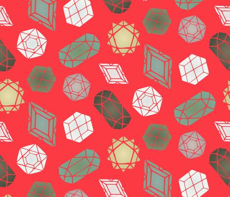 Bright Geometric Gemstones fabric by radianthomestudio on Spoonflower - custom fabric