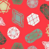 Bright Geometric Gemstones