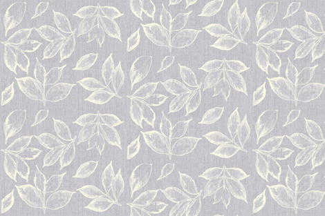 Grey and Cream leaves fabric by mypetalpress on Spoonflower - custom fabric