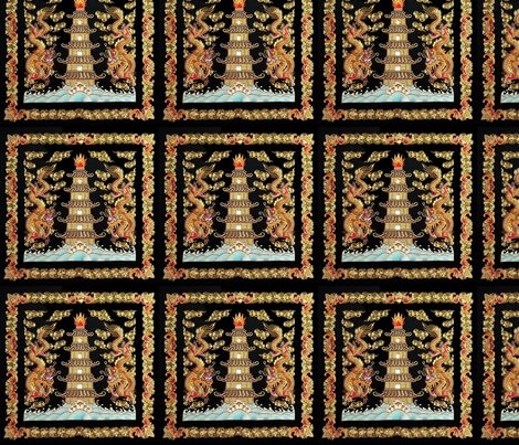 Spoonflower_double_golden_dragons_pagoda_shop_preview
