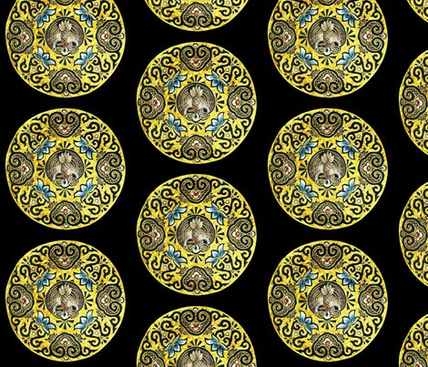 Spoonflower_contrast_small_circle_golden_crane_shop_preview
