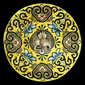 Spoonflower_contrast_small_circle_golden_crane_shop_thumb