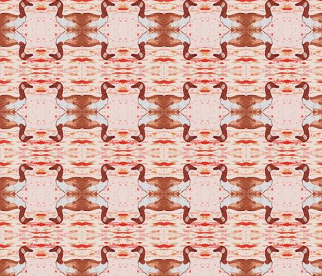 Canada Goose Creamsicle fabric by peaceofpi on Spoonflower - custom fabric