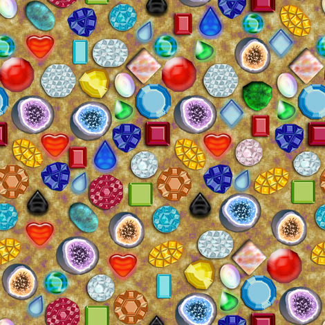 All Sorts Gems Geodes, Sandy fabric by eclectic_house on Spoonflower - custom fabric
