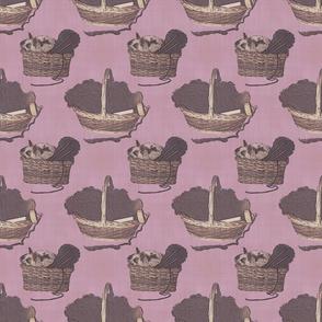 Woolen Knitin' n Kittens - lavender