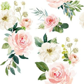 "8"" Chic Blush Roses // White"