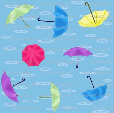 Loose umbrellas toss