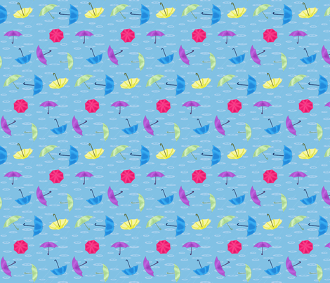 Loose umbrellas toss fabric by dreamgardenart on Spoonflower - custom fabric