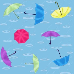 Loose umbrellas toss