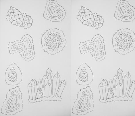 geodesdrawn fabric by keerasama on Spoonflower - custom fabric