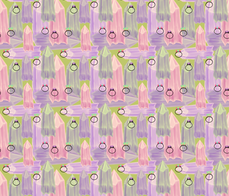 Tuesdays_Crystals fabric by chovy on Spoonflower - custom fabric