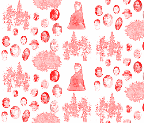 All women nobel peace price winners honored in a garden fabric by ruthjohanna on Spoonflower - custom fabric